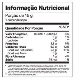 Nutdop Veg Pasta de Amendoim Chocolate Belga - TABELA